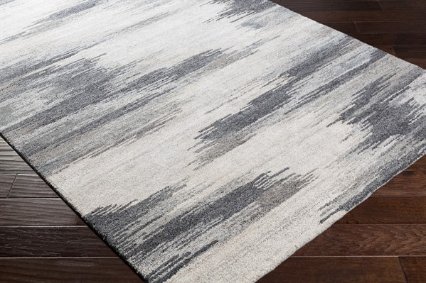 Charcoal, Ivory, Taupe (MLS-2308) Contemporary / Modern Area Rug