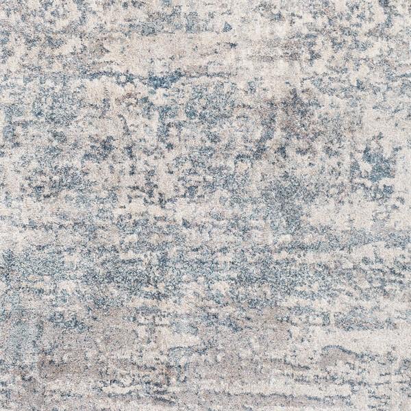 Blue, Light Grey (MIE-1002) Abstract Area Rug