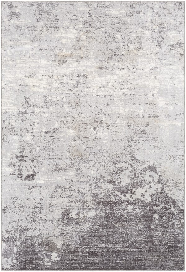 Silver Grey, White, Charcoal (WNL-2310) Contemporary / Modern Area Rug