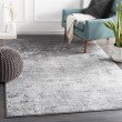 Product Image of Silver Grey, White, Charcoal (WNL-2310) Contemporary / Modern Area Rug