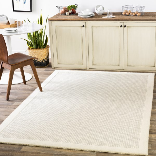 Cream, Light Grey (SNA-2305) Contemporary / Modern Area Rug