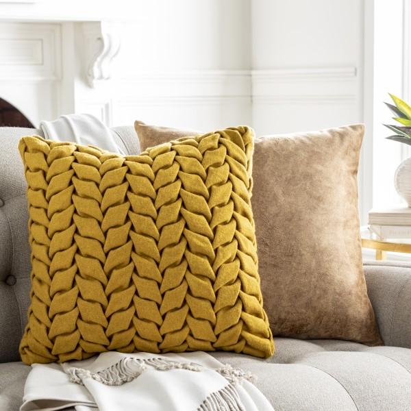 Mustard (AAP-005) Solid pillow