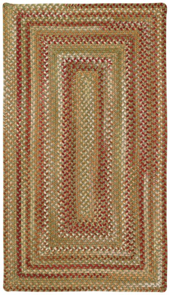 Sage, Red  Country Area Rug