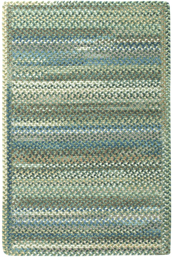 Dark Green Country Area Rug