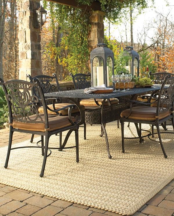 Beige Outdoor / Indoor Area Rug