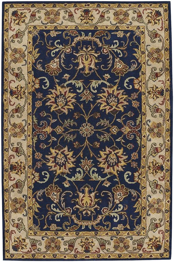 Dark Blue Traditional / Oriental Area Rug