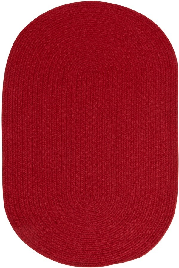 Dark Red Solid Area Rug