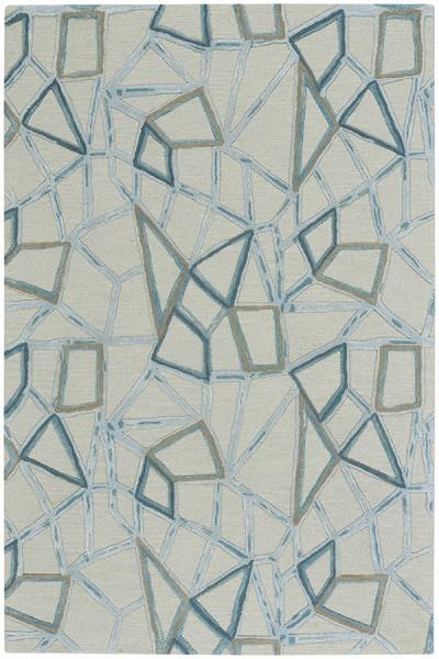 Crystal Contemporary / Modern Area Rug