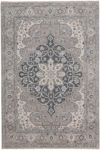 Silver Grey Traditional / Oriental Area Rug