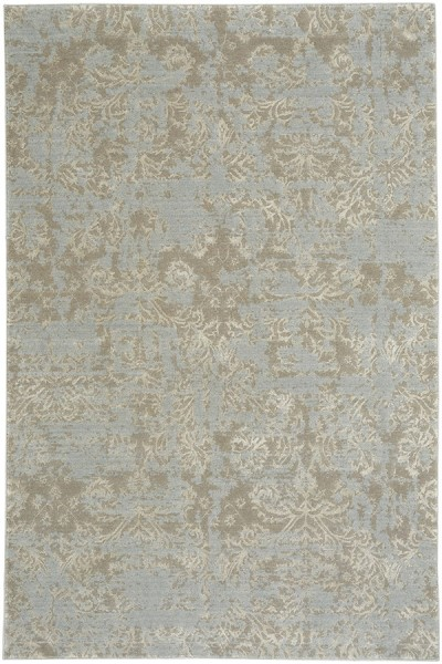 Blue Silver Traditional / Oriental Area Rug