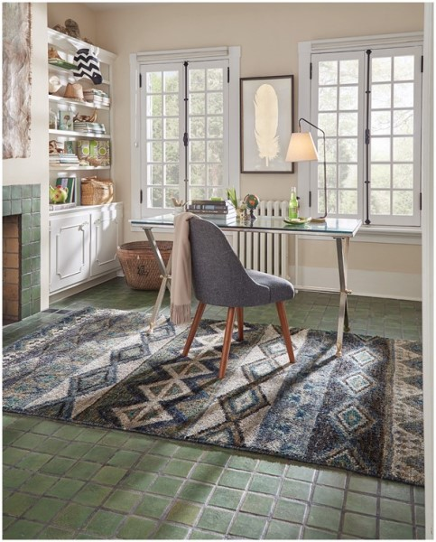 Green Moroccan Area Rug