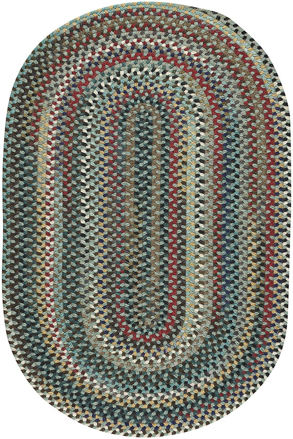 Leaf Green Country Area Rug