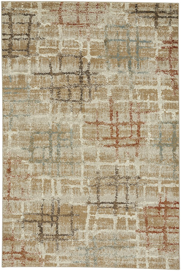 Tan Contemporary / Modern Area Rug