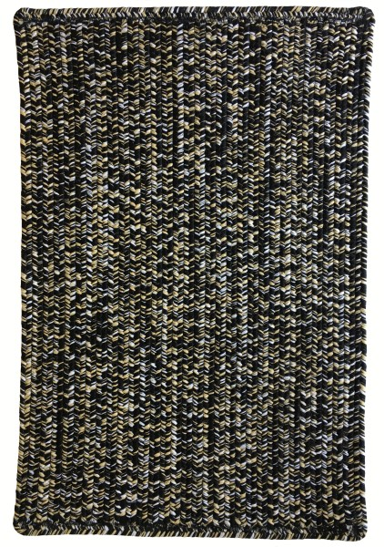 Black, Old Gold (355) Country Area Rug