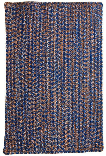 Blue, Orange (440) Country Area Rug