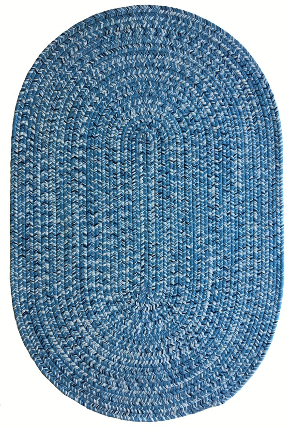 Light Blue, Navy (420) Country Area Rug