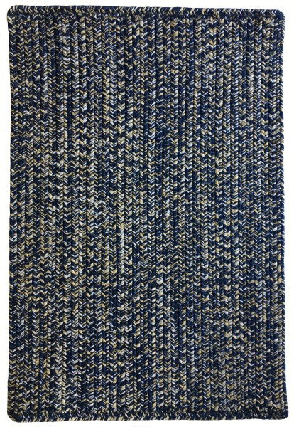 Navy, Gold (475) Country Area Rug