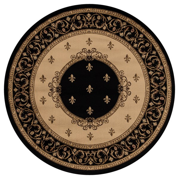 Black (6313) Traditional / Oriental Area Rug