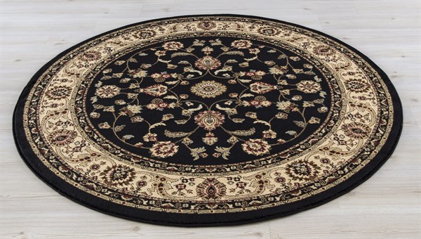Black (4933) Traditional / Oriental Area Rug