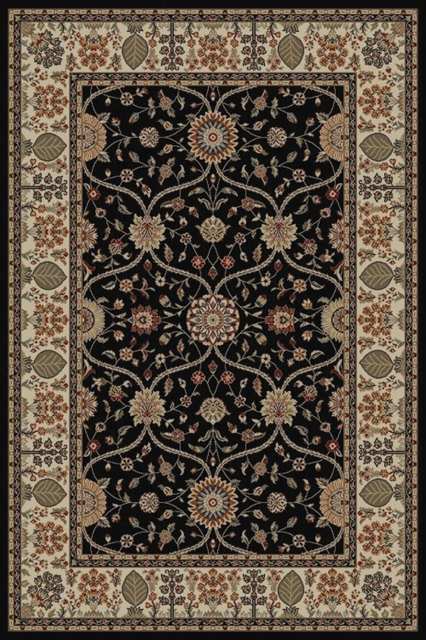 Black (4903) Traditional / Oriental Area Rug