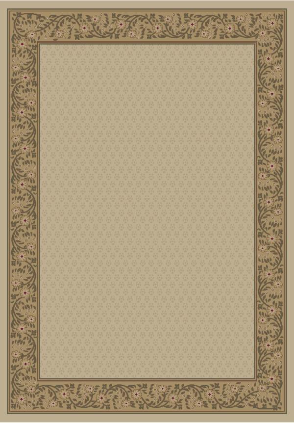 Ivory (4022) Bordered Area Rug