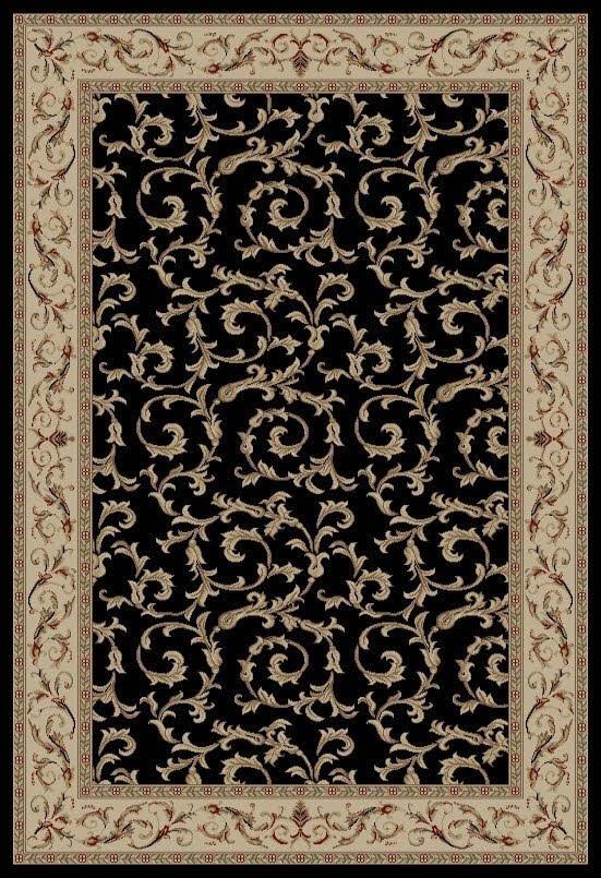 Black (4393) Traditional / Oriental Area Rug