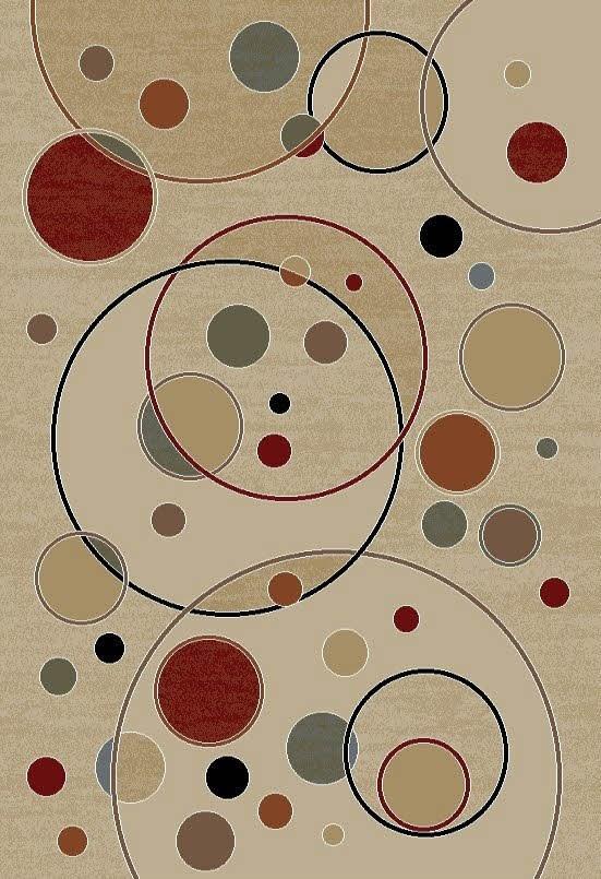 Ivory (4422) Contemporary / Modern Area Rug