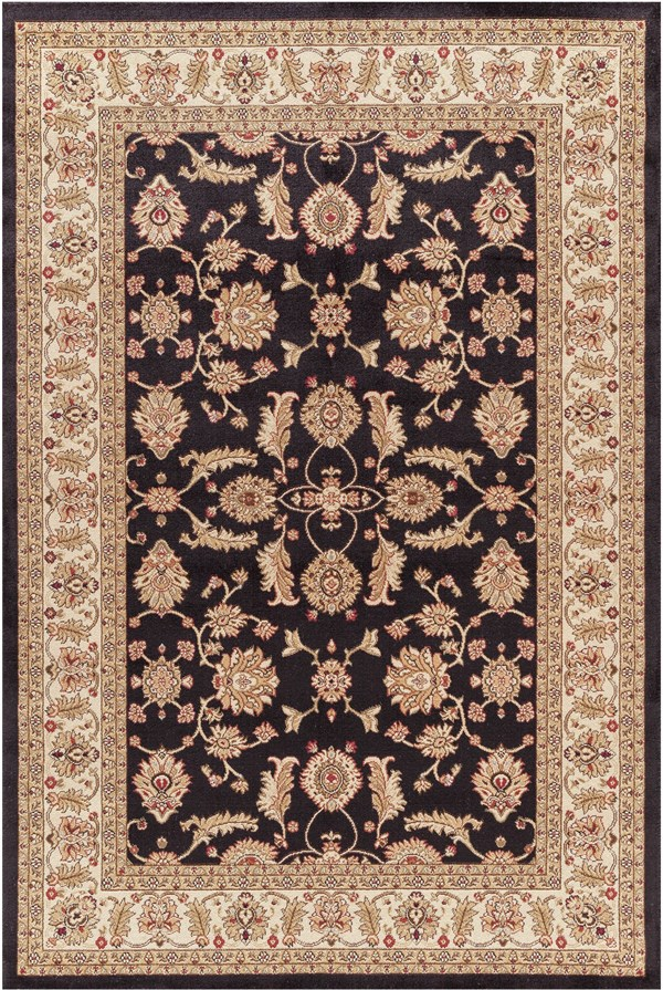 Black (4443) Traditional / Oriental Area Rug