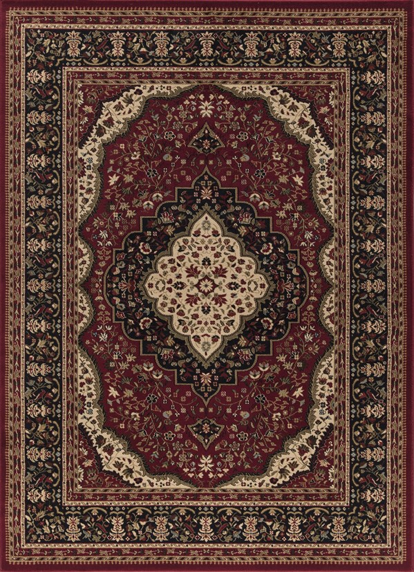 Red (6140) Traditional / Oriental Area Rug
