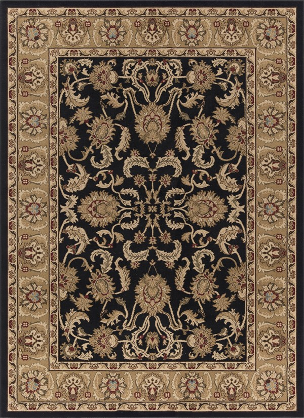 Black (6173) Traditional / Oriental Area Rug