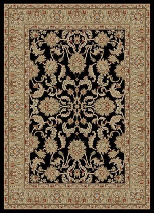 Black (6173) Traditional / Oriental Area Rug