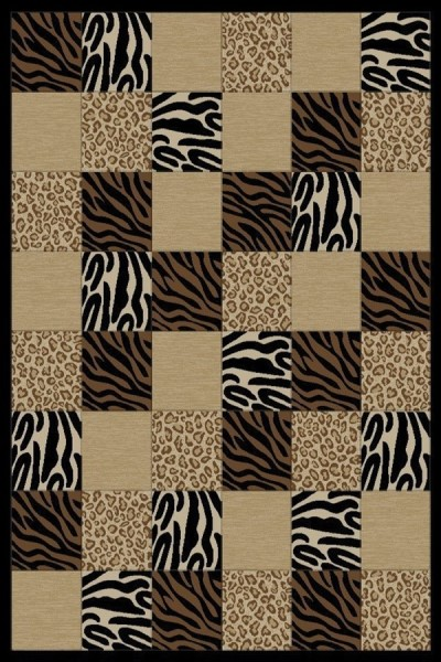 Black (6253) Contemporary / Modern Area Rug