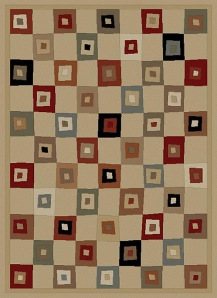Ivory (6012) Contemporary / Modern Area Rug