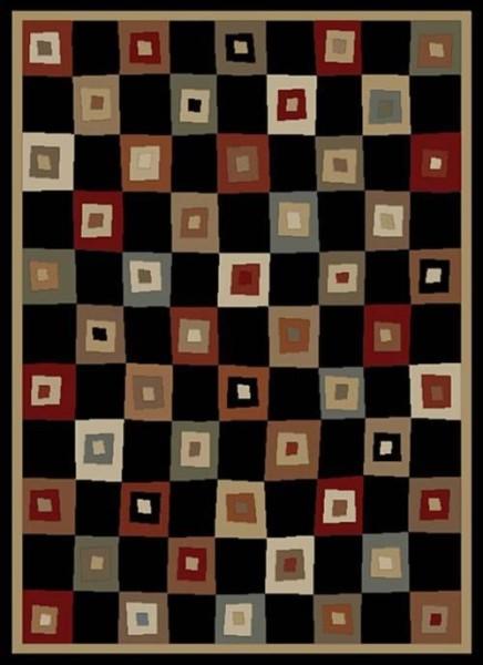 Black (6013) Contemporary / Modern Area Rug