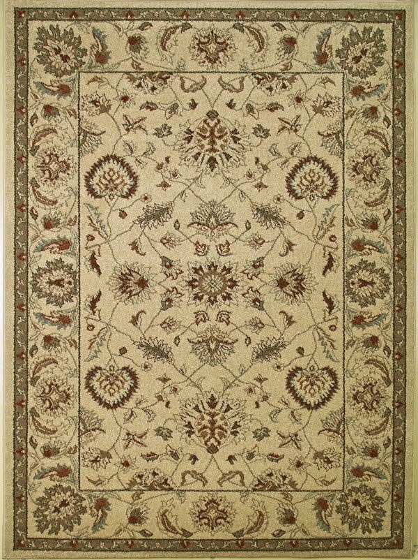 Cream (9702) Traditional / Oriental Area Rug