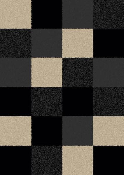 Black (1523) Contemporary / Modern Area Rug