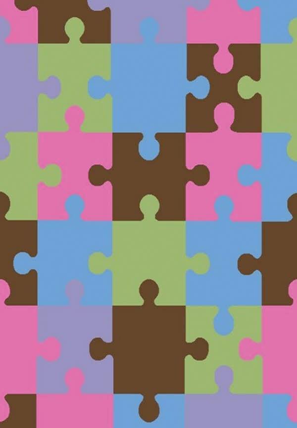 Pink, Brown, Blue (2310) Children's / Kids Area Rug
