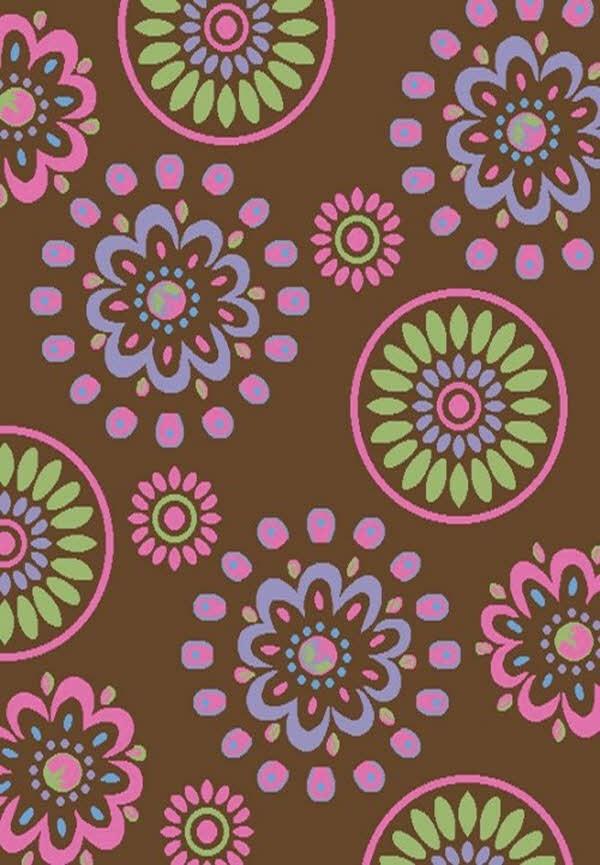 Brown (2448) Floral / Botanical Area Rug