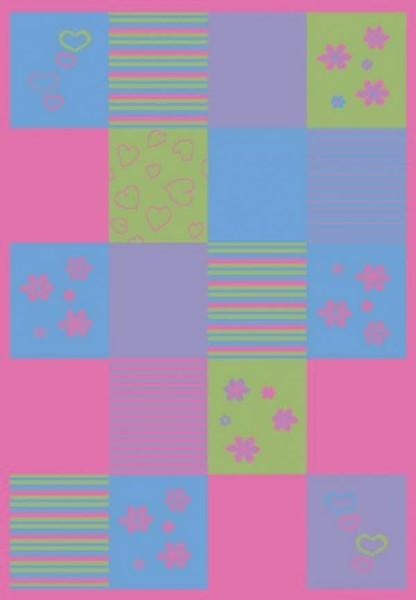 Pink, Yellow, Blue (2360) Children's / Kids Area Rug