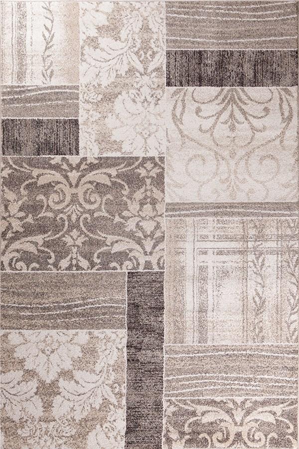 Ivory (8512) Damask Area Rug