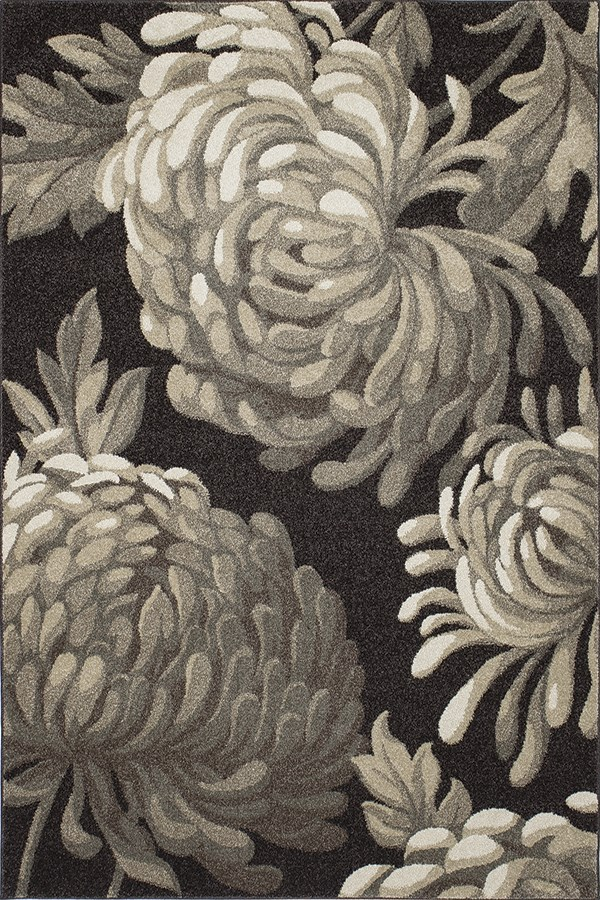 Brown (8668) Floral / Botanical Area Rug