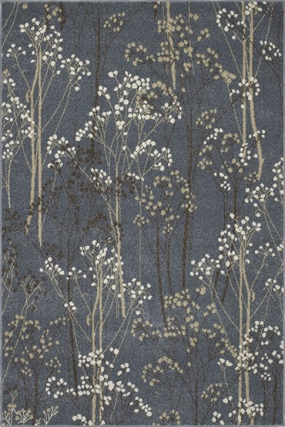 Blue (8606) Floral / Botanical Area Rug