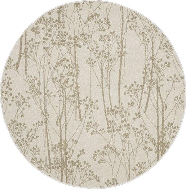 Ivory (8602) Floral / Botanical Area Rug