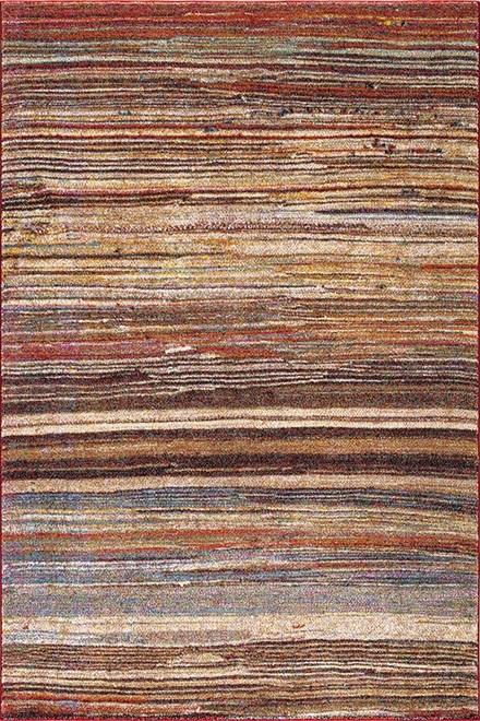 Tan, Rust (7433) Southwestern / Lodge Area Rug