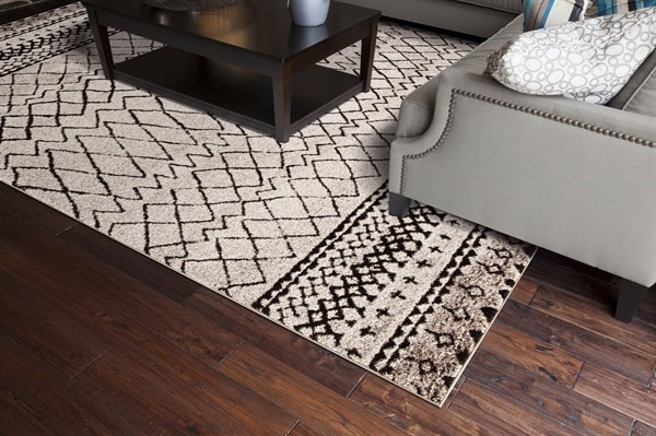 Ivory (7442) Moroccan Area Rug