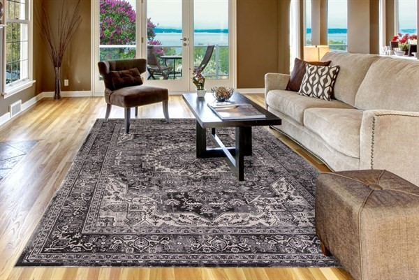 Anthracite (2833) Traditional / Oriental Area Rug
