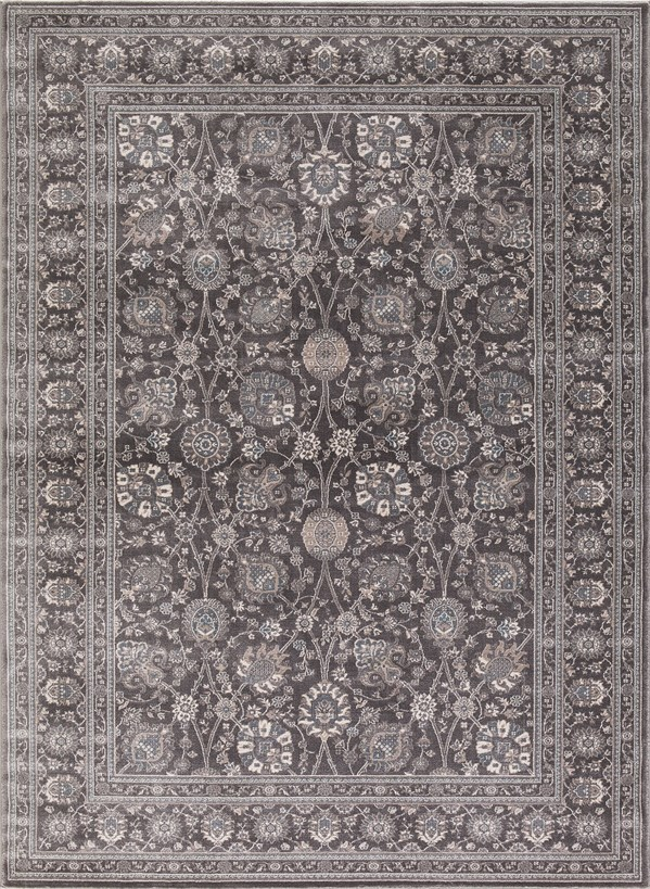 Grey (2846) Traditional / Oriental Area Rug
