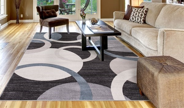 Anthracite (4583) Contemporary / Modern Area Rug