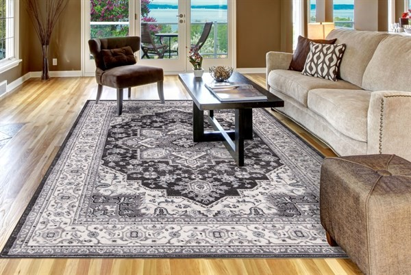 Anthracite (4543) Bohemian Area Rug