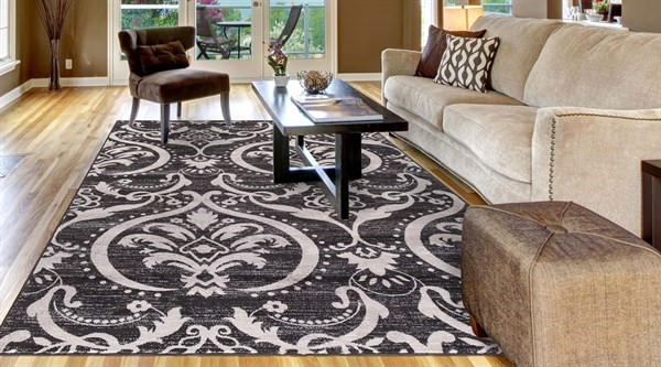 Anthracite (4573) Traditional / Oriental Area Rug